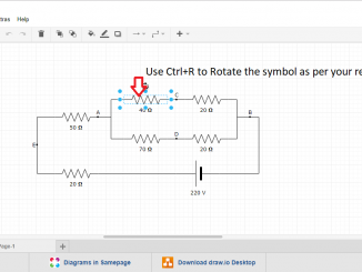 Free Circuit diagram making tool