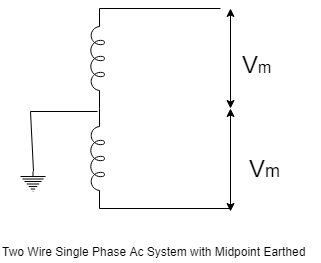 Two Wire single Phase Ac system with Midpoint Earthed