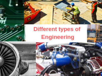 Different types of Engineering courses list