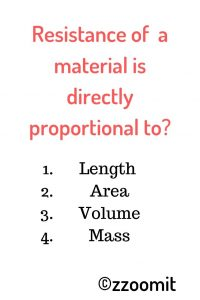 Resistance of a material is directly proportional to