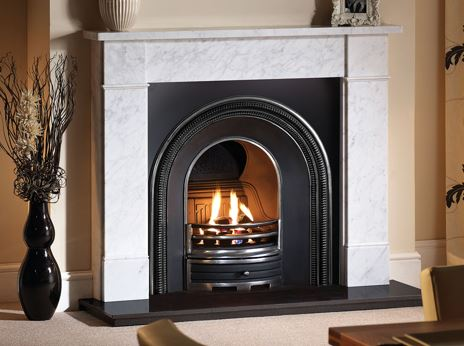 What is a Carrara marble fireplace