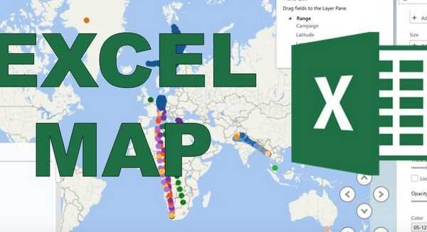 How do I create a map from Excel data