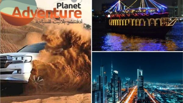 Dhow cruises and desert safari excursions are available in Dubai.